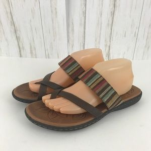 Born BOC Striped Flip Flop Sandals Size 10